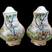 Lovely Vintage Estate Porcelain Salt and Pepper Shakers