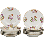 Beautiful Royal Vienna Dish Set of 13 Plates and Large Bowl, From Dorothy Draper Family, ca. 19th Century