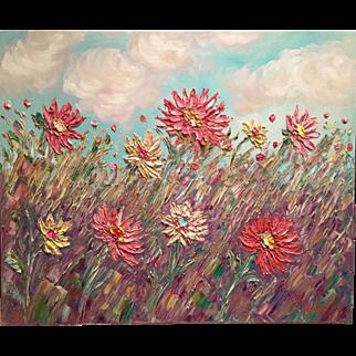 """French Wild Poppies"", Original Oil Painting by artist Sarah Kadlic, 24x20"""