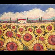 Fields of Sunflowers Original Painting by Artist Sarah Kadlic
