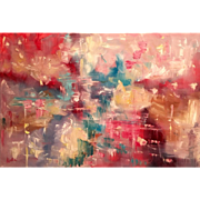 """Abstract Color Inspiration"", Original Oil Painting by artist Sarah Kadlic 36x24"""