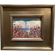 """Sailboat Seascape Beach Scene"", Original Oil Painting by artist Sarah Kadlic"