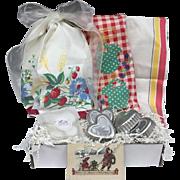 Vintage Inspired Gift Set - Vintage Tea Towels, Bundt Cake & More!