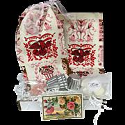 Vintage Inspired Gift Set - Vintage Paris Pink Tea Towels, Bundt Cakes & More!