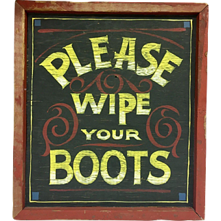 """Adorable Vintage Western Themed Wall Plaque for Decorating 15.5"""" x 17"""""""