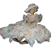 Art Deco Era Cloth Face Boudoir Doll Blossom