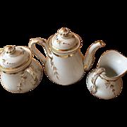 35 pc Antique Charles Haviland Limoges Coffee Dessert Dinnerware Set -Free Shipping-