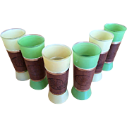 Frosted Tiki Glasses Set of 6