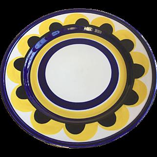 "Arabia Finland 13"" Yellow Paju Round Serving Platter"
