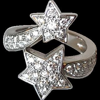Chanel Comete Double Star Diamond Ring