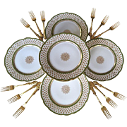 9 Vintage GDA Limoges Plates