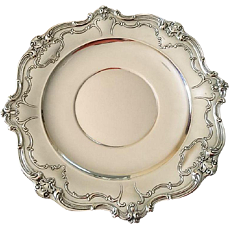 "Gorham 10.5"" Sterling Sandwich Plate Chantilly Duchess"