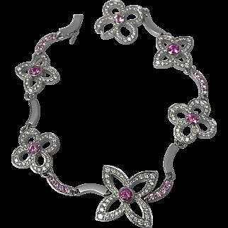 Craquantes Monogram Diamond and Pink Sapphire Bracelet