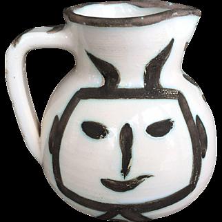 Pablo Picasso Ceramic Pitcher Pichet Tete Carree