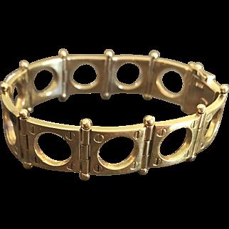 Rare Puig Doria 18K Spanish Gold Bracelet