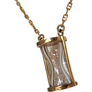 Sidney Mobell Diamond Hourglass Necklace