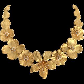 Vintage Tiffany & Co Bouquet Necklace