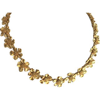 Vintage Tiffany & Co Dogwood Flower Necklace
