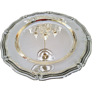 "Tiffany and Co 13 1/4"" Sterling Silver Platter #1"