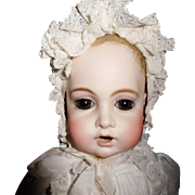 """18"""" Antique French Nursing BRU (BEBE TETEUR) With Kid Body & Bisque Arms  AS IS"""