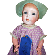 "18"" Antique Bisque Grace Corey Rockwell Character Doll Model #1391.  Adorable!!!"
