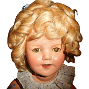 """13"""" Vintage Composition Shirley Temple Doll All Original And Minty Condition"""