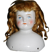 "4 5/8"" Tall German Wigged Solid Dome China Head Only"