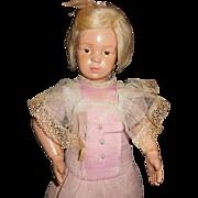 "16"" Antique Schoenhut Pouty Doll Incised Schoenhut Mark"