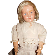 """14"""" Antique Schoenhut Character Doll With Incised Markings  AS IS"""