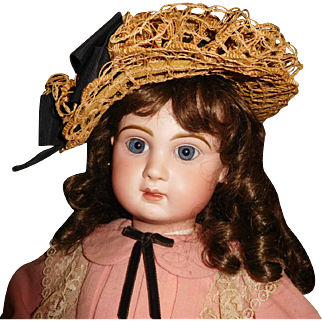 """25"""" Antique Closed Mouth Beautiful Jumeau Size 12.  Marked Head And Body."""