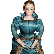 """13"""" Antique Beautiful French Fashion Full Figure Marotte All Original With Wonderful Music"""