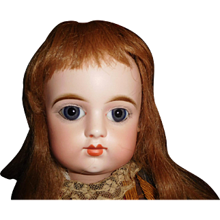 """25"""" Antique Eden Bebe French Doll With Closed Mouth On Marked Jumeau Body"""