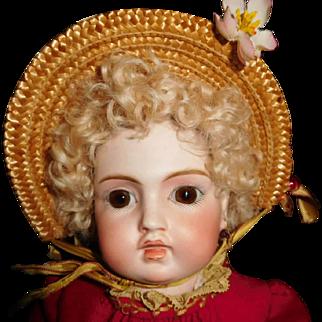 "14"" Antique Sonnenberg German Doll That Looks Very Much Like Circle Dot Bru"