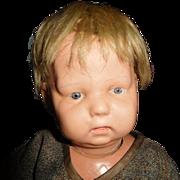 "14"" Antique Schoenhut Nature Baby In Excellent Condition"