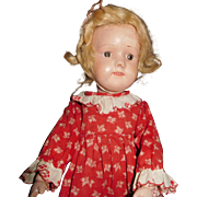 """15"""" Antique Dolly Face Smooth Eye Schoenhut Doll - No Repair or Repaint"""