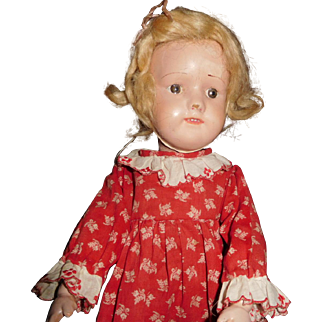 "15"" Antique Dolly Face Smooth Eye Schoenhut Doll - No Repair or Repaint"