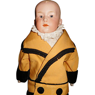 "18"" Antique Heubach Pouty Doll Shoulder Head"
