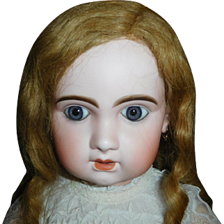 "30"" Antique & Early  Jumeau Open Mouth Doll Size 13 With Marked Jumeau Body"