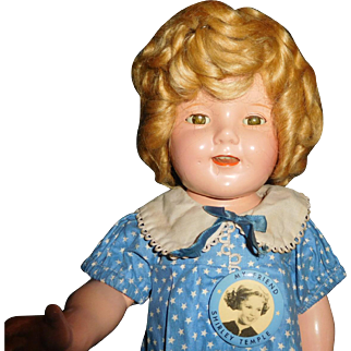 "18"" Antique  Composition All Original ShirleyTemple In Excellent Condition Marked Head & Body"