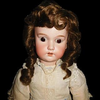 """25"""" Antique C. M. Bergmann Doll, Composition Body, Antique Clothing"""