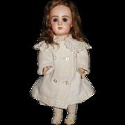 "14"" Antique TETE JUMEAU Doll Size 5, Jumeau Solid Wrist Body Has Repaint"