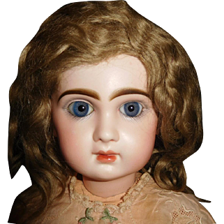"21""  Antique Closed Mouth Tete Jumeau Size 10 Marked Head & Body"