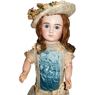 "17"" Antique Lovely French Steiner Bebe Marked Head & Body"