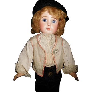 "14"" Antique & Beautiful J Steiner Bebe French Doll Marked Head & Body"