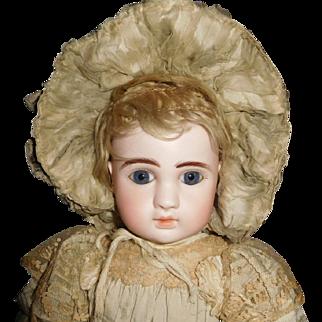 """21"""" Antique J. Steiner Pressed Bisque Head Doll All Original Marked Head & Body"""