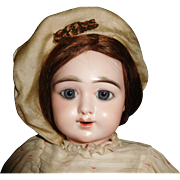 "20 1/2"" Antique Beautiful Oily Bisque Incised Eden Bebe French Doll"