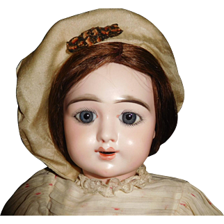 """20 1/2"""" Antique Beautiful Oily Bisque Incised Eden Bebe French Doll"""