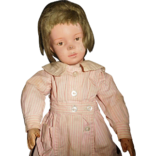 "16"" Antique Schoenhut Pouty Girl Doll - No Repair Or Repaint"
