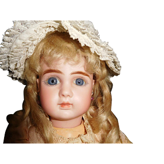 """16"""" Antique Lovely French Steiner Closed Mouth Doll Marked Head & Body"""