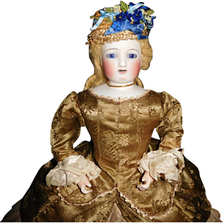 """15"""" Antique  French Mechanical Waltzing Steiner Doll With 2 Rows Of Teeth"""